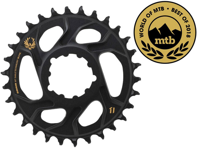 SRAM X-Sync Eagle Corona dentata DM 12 velocità 3mm, black/gold